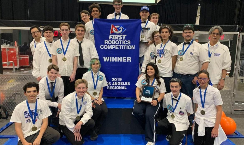 Districtwide Robotics Team Wins 1st Place at L.A. Regionals