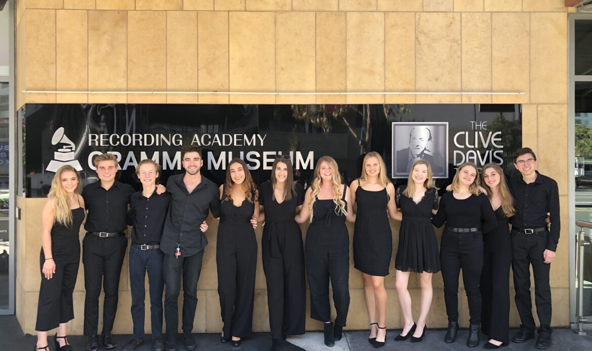 Tesoro High School's Contemporary A Cappella Group Performs at Grammy Museum in Los Angeles, Honoring Quentin Tarantino and movie 'Once Upon a Time in Hollywood'