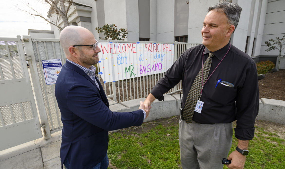 Rancho Mission Viejo Executive experiences a day in the life of a principal