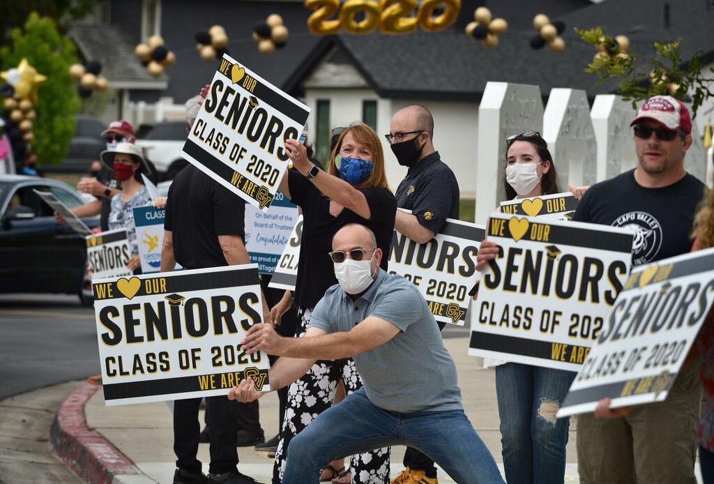 Capo Valley High School grads gather graduation gowns