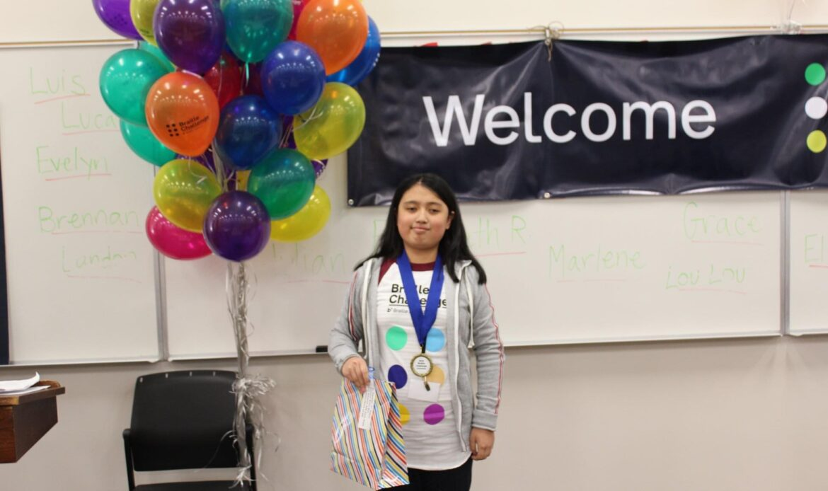 CUSD student takes third place in Braille Challenge finals