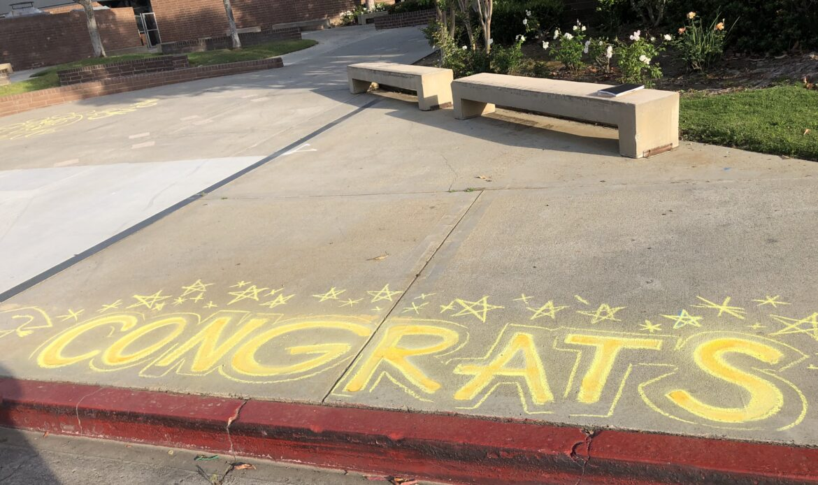 Capistrano Unified alumna's chalk art brings message of hope to CVHS graduates