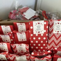 CUSD Trustees spread Valentine cheer with special delivery