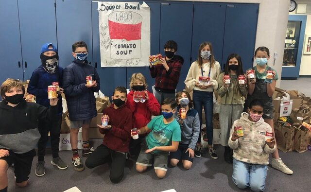 Malcom Elementary holds Souper Bowl canned food drive