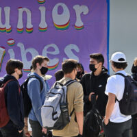San Juan Hills High School celebrates hybrid students' return to campus full-time