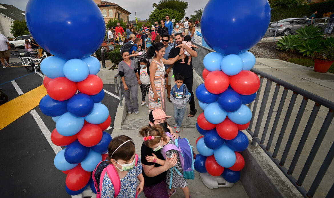 Hugs, welcomes and a new mascot: The first day of school at Palisades Elementary